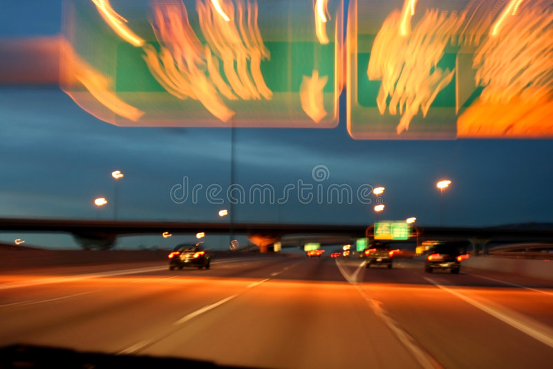 Download Highway At Night Royalty Free Stock Photography - Image: 1424357