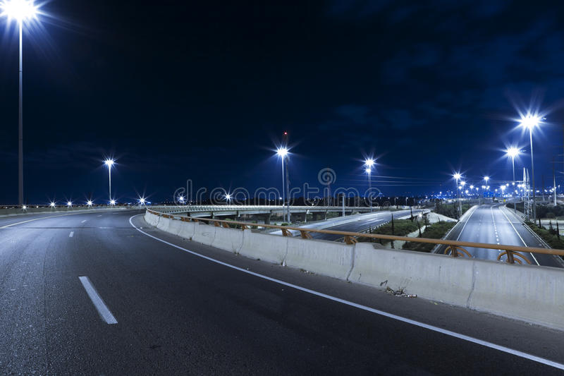 Download Highway at Night stock photo. Image of bridge, contemporary - 26819156