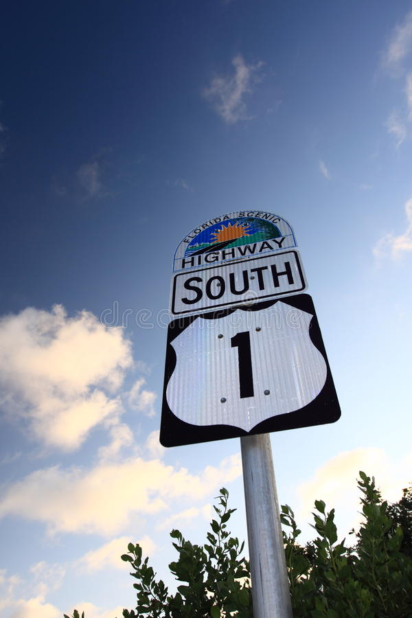 Highway No 1 in Florida Keys stock photography