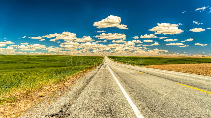 Highway 12 in Oost-Washington royalty-vrije stock foto
