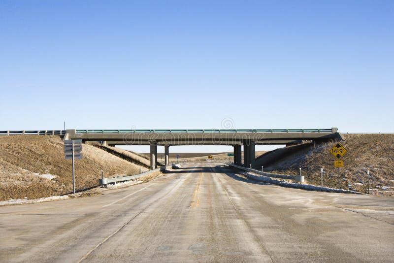 Download Highway With Overpass Bridge. Stock Image - Image: 3184227