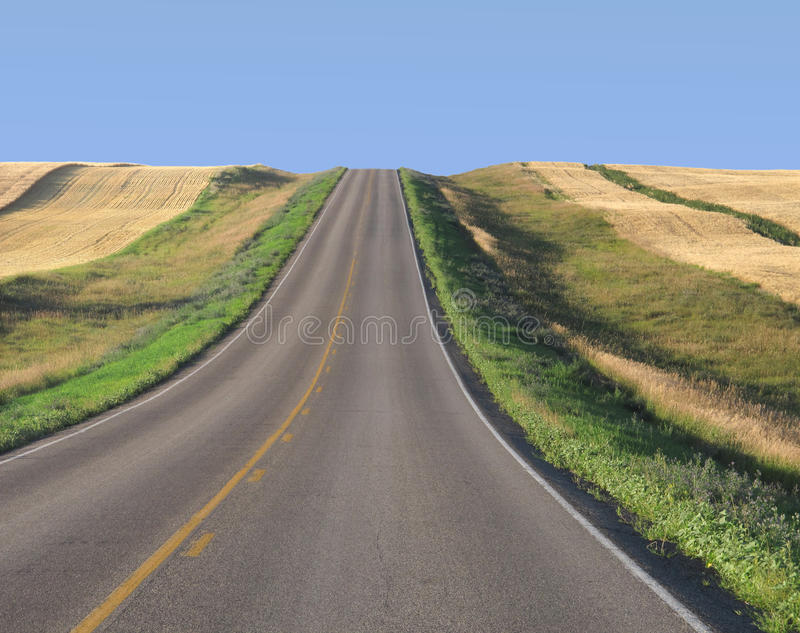 Download Highway Through Prairie Wheat Fields Stock Photography - Image: 26244972