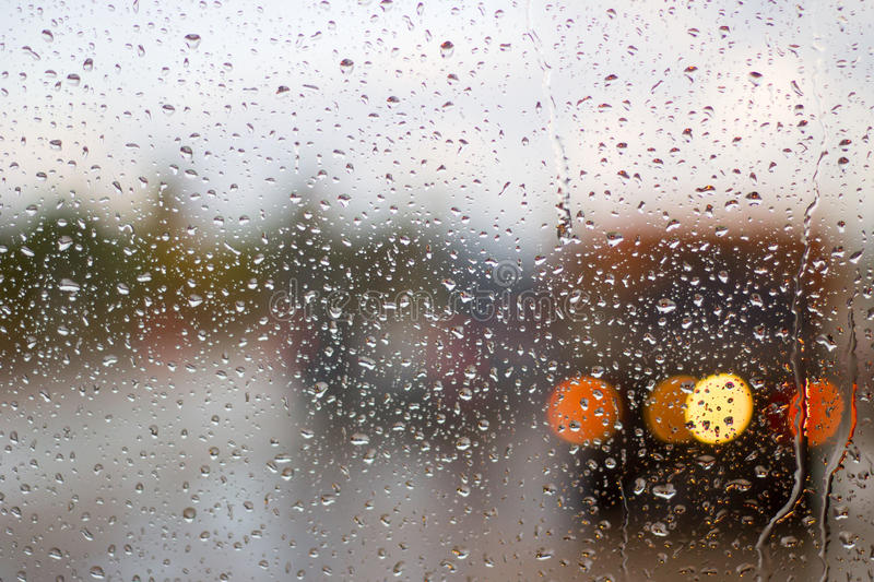 Highway in the rain royalty free stock photo