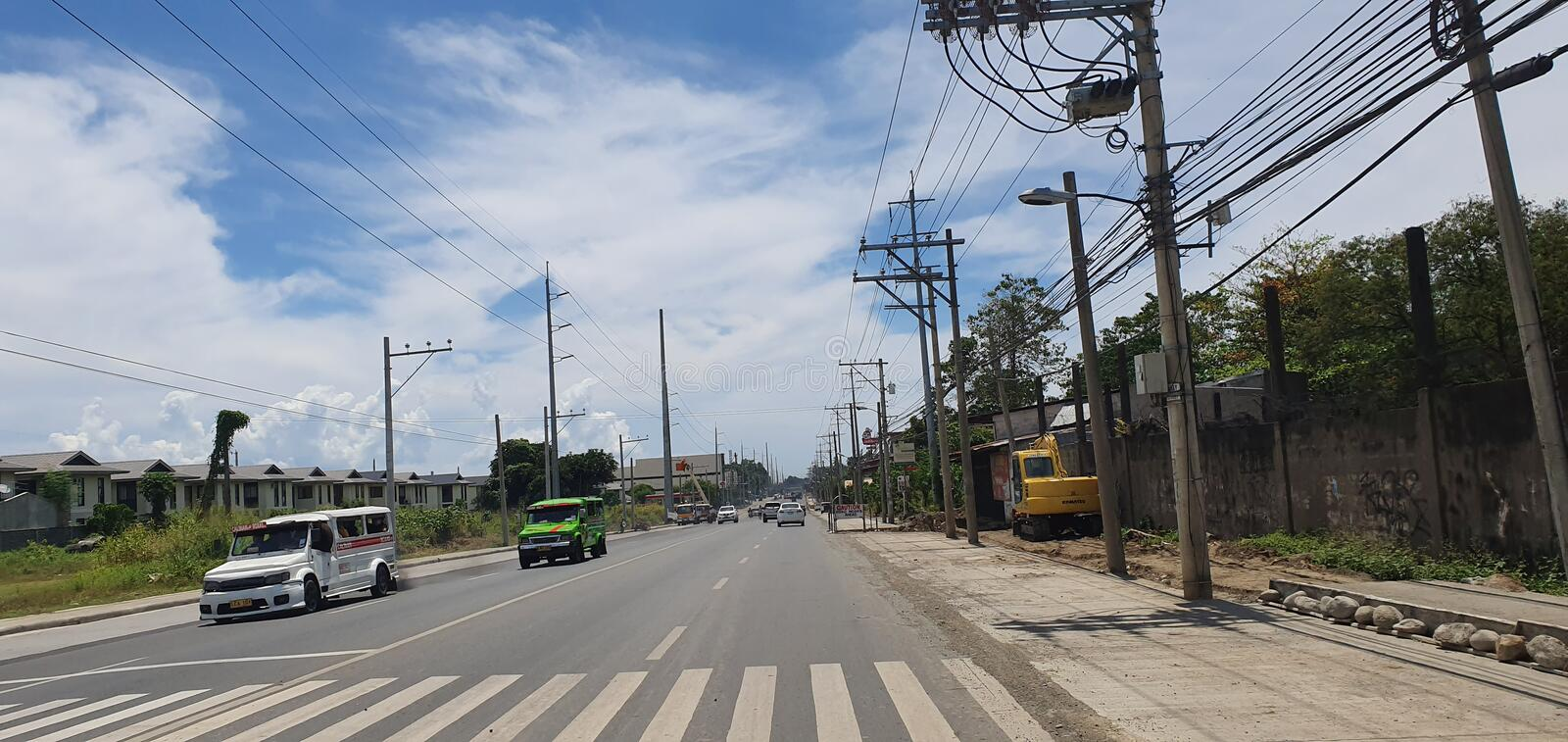 Highway Road in Davao City, Philippines stock image