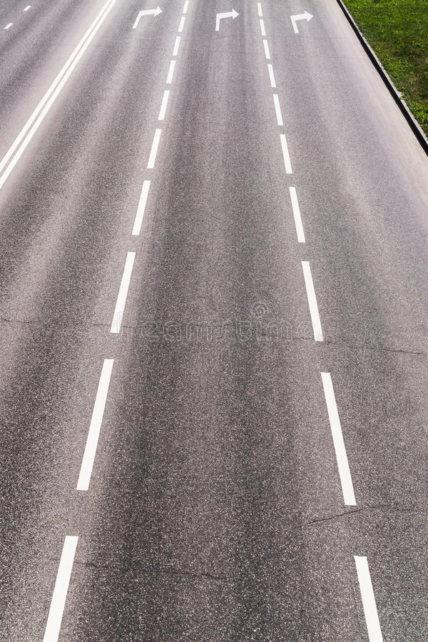 Highway with road markings royalty free stock photography