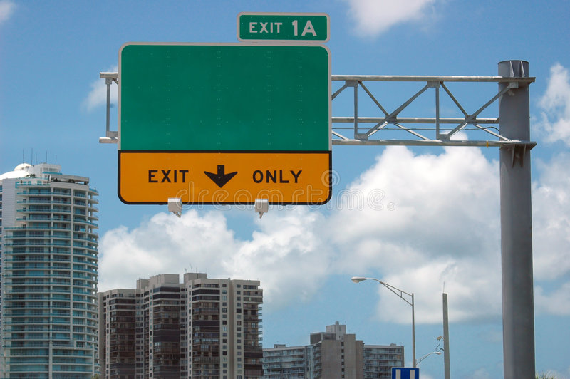 Download Highway sign stock image. Image of motorists, exit, american - 1069347