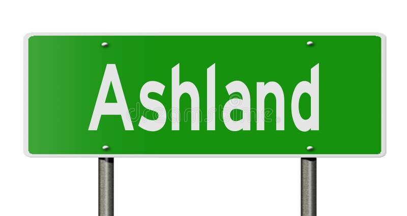 Highway sign for Ashland vector illustration