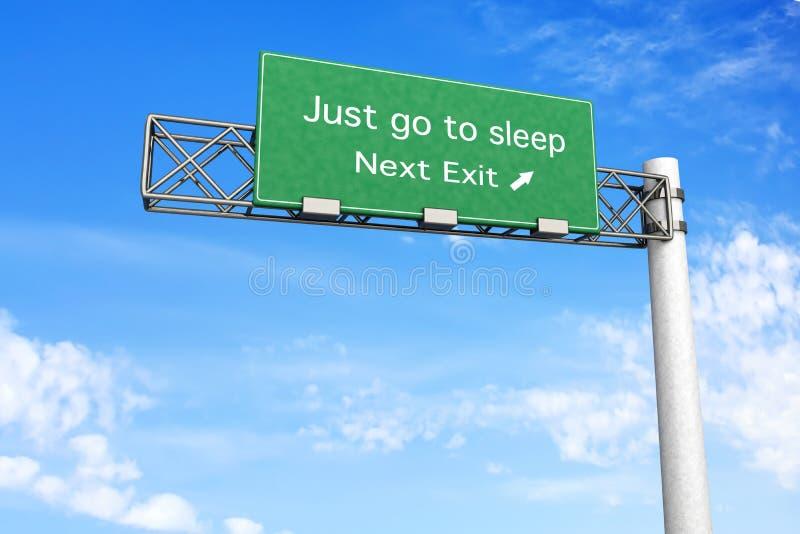 Download Highway Sign - Sleep stock illustration. Illustration of journey - 29682561
