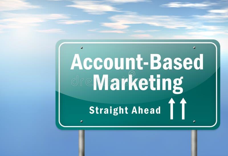 Highway Signpost Account-Based Marketing. Highway Signpost with Account-Based Marketing wording stock illustration