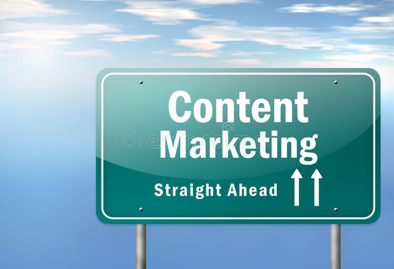 Highway Signpost Content Marketing stock illustration