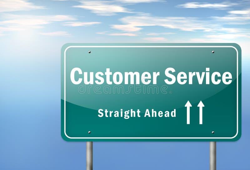 Highway Signpost Customer Satisfaction royalty free illustration