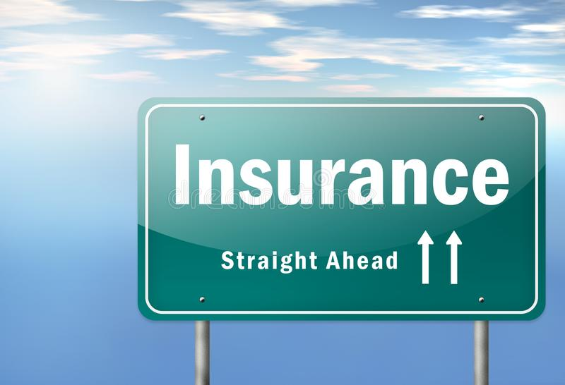 Highway Signpost Insurance. Highway Signpost with Insurance wording royalty free illustration