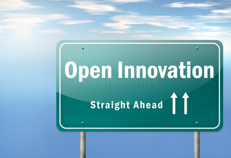 Highway Signpost Open Innovation royalty free illustration