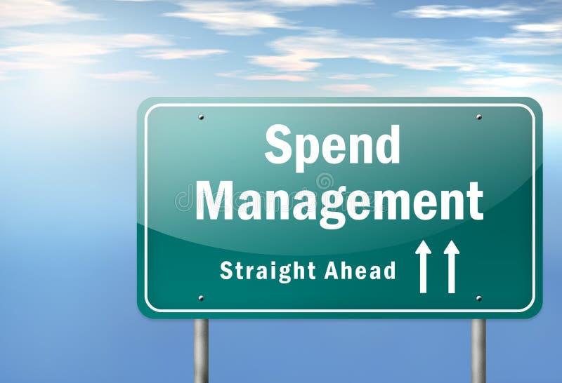 Highway Signpost Spend Management. Highway Signpost with Spend Management wording royalty free illustration
