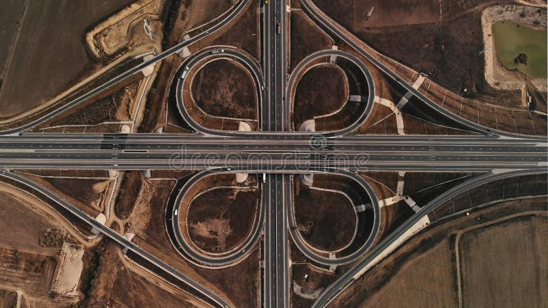 Highway Simetry - Graphic Flower royalty free stock images