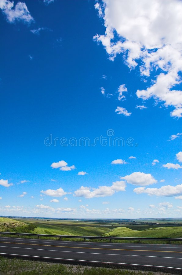 Highway and Sky royalty free stock photos