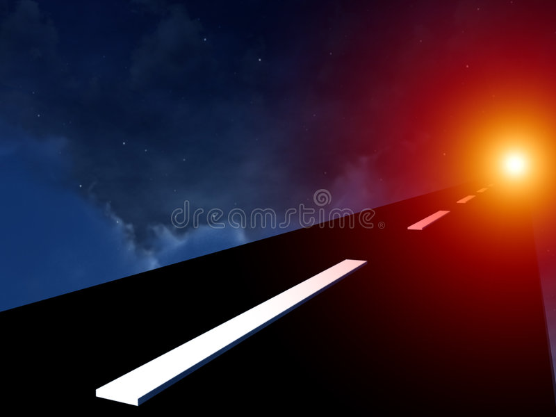 Download On The Highway In The Sky 8 Stock Illustration - Image: 3696556