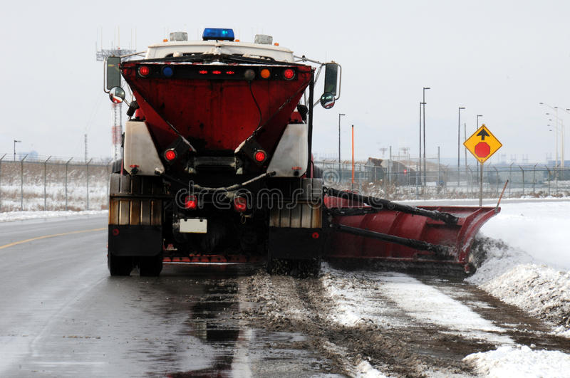 Highway snowplow royalty free stock photos