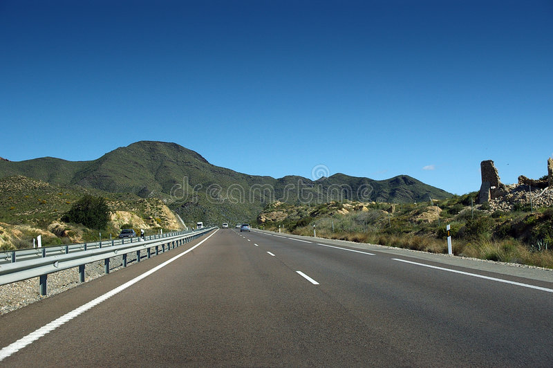 Highway in Southern Europe royalty free stock images