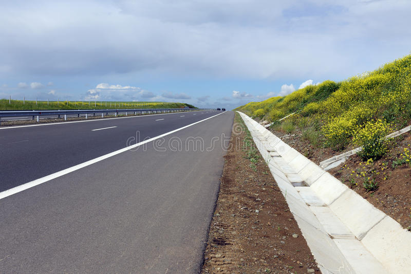 Highway in spring royalty free stock photos