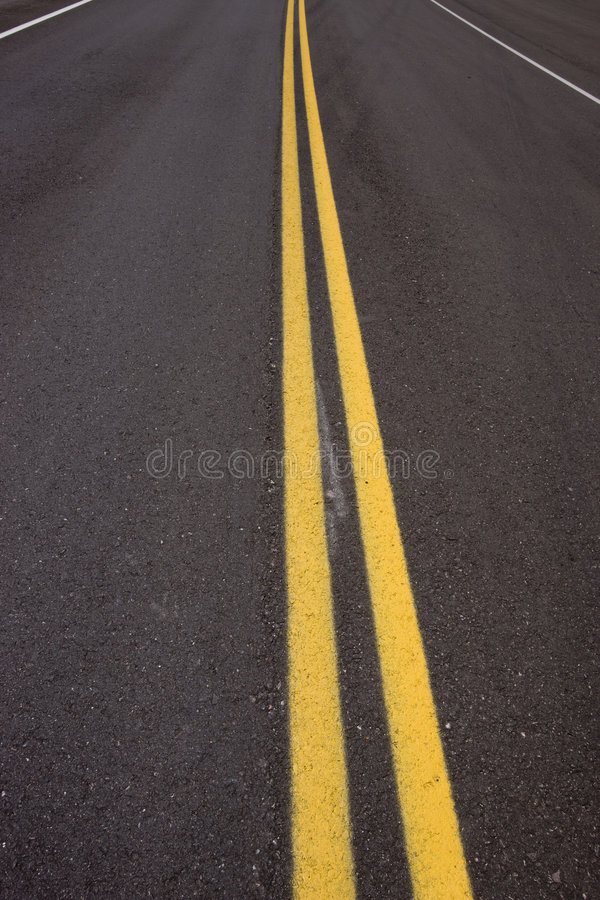 Highway stripe stock photography