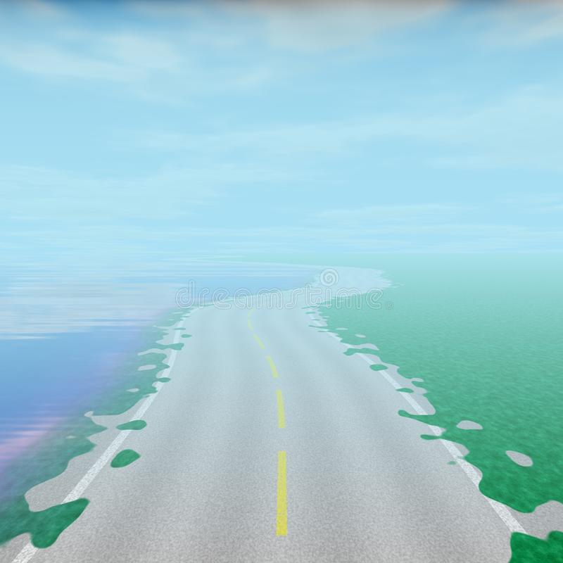 Highway texture, way street in natural, nobody on the way, roadway texture royalty free stock image