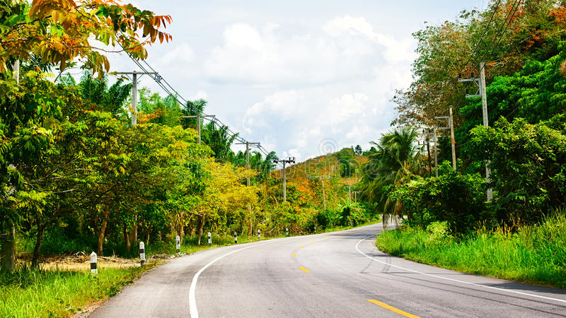 Download Highway in Thailand stock photo. Image of coconut, blue - 34670448