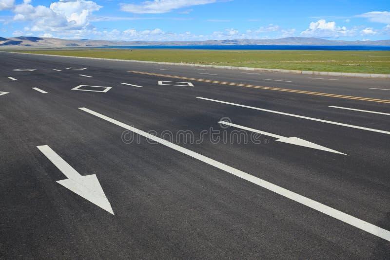 Highway In Tibet Stock Images