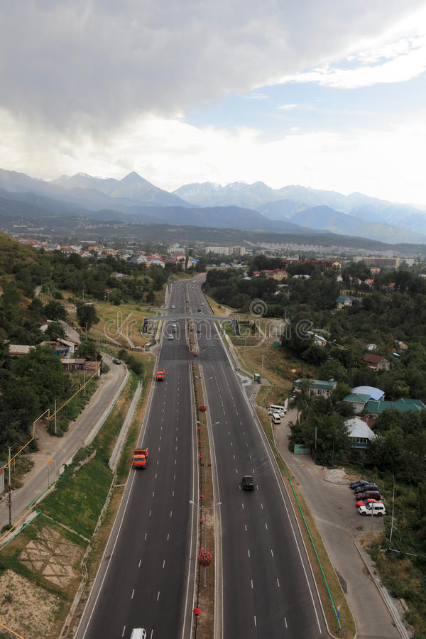 Download Highway to Almaty stock photo. Image of building, place - 26575174