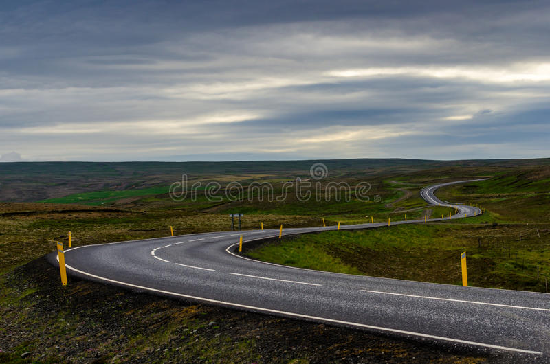 Highway to the horizon royalty free stock images