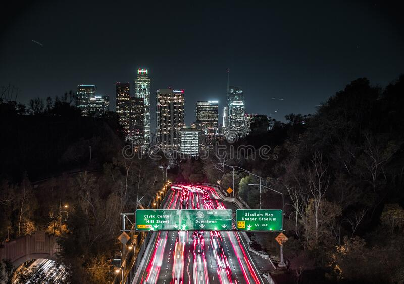 Highway to LA royalty free stock images