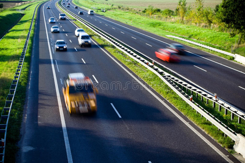Download Highway Traffic, Cars Motion Blur Royalty Free Stock Images - Image: 17863169