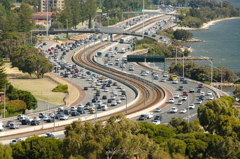 Highway Traffic royalty free stock photo