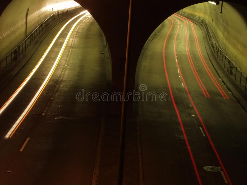 Highway tunel stock image