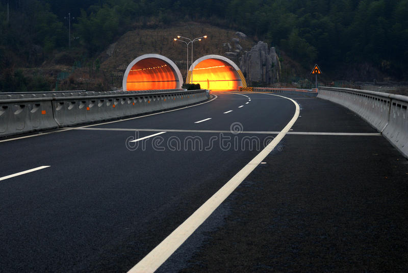 Highway and tunnel stock images