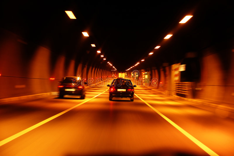 Highway tunnel royalty free stock image