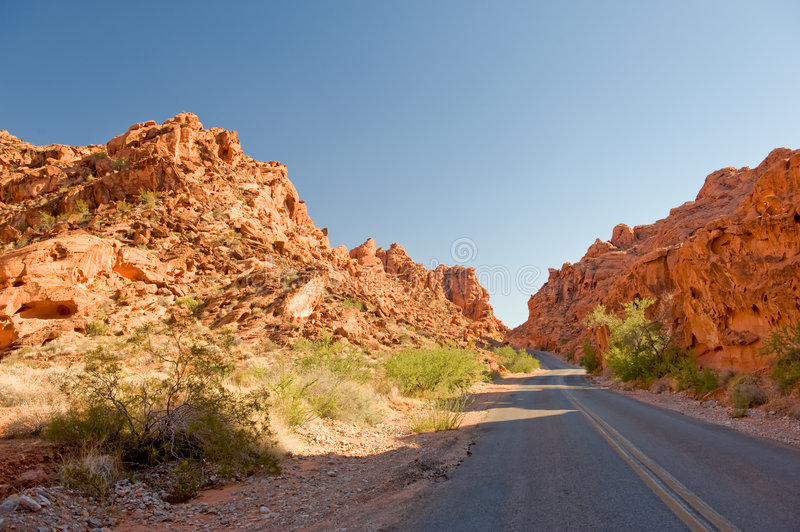 Download Highway Through Valley Of Fire Stock Photo - Image: 6961618