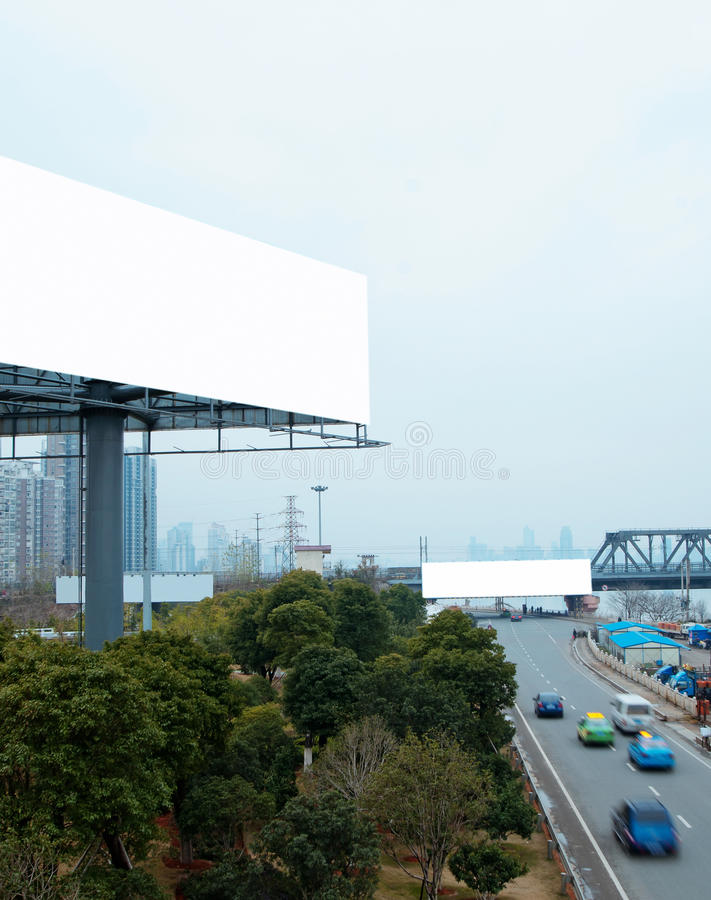 Highways And Billboards Royalty Free Stock Photos