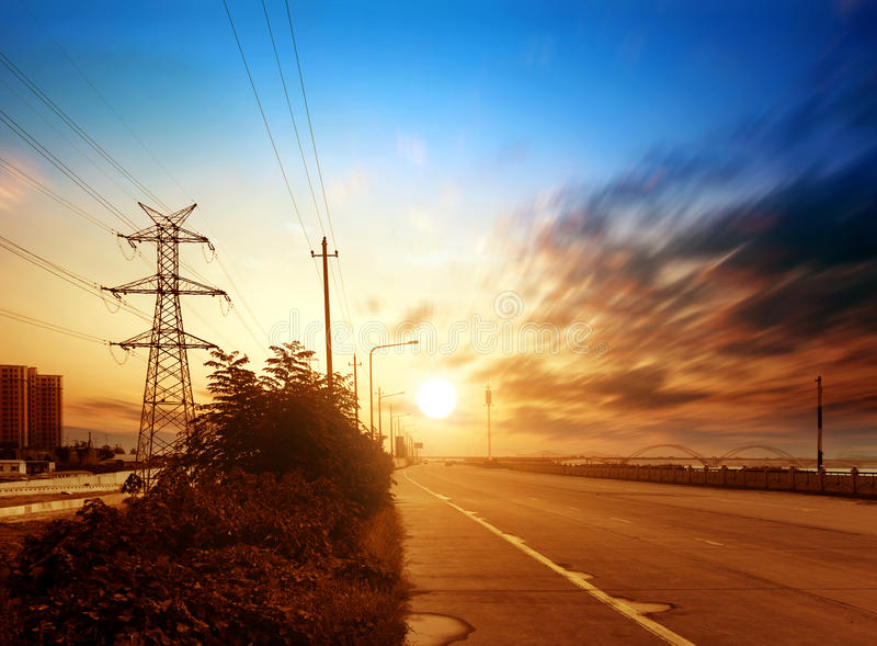 Download Highways And High-voltage Tower Stock Images - Image: 27070854