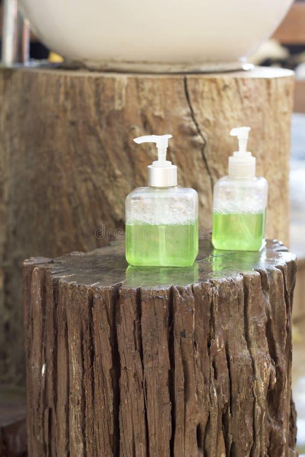 Higiene del cuidado del jabón líquido para la mano fotografía de archivo libre de regalías