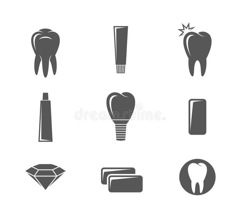 Higiene dental Sistema del icono ilustración del vector