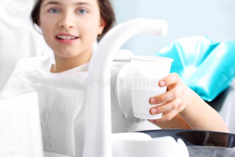 Higiene oral vista imagenes de archivo