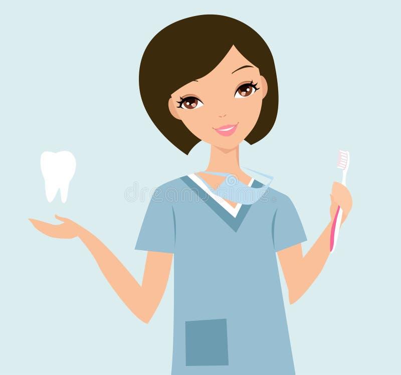 Higienista dental ilustración del vector