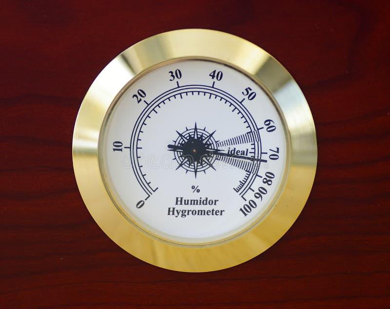 Higrómetro del Humidor foto de archivo