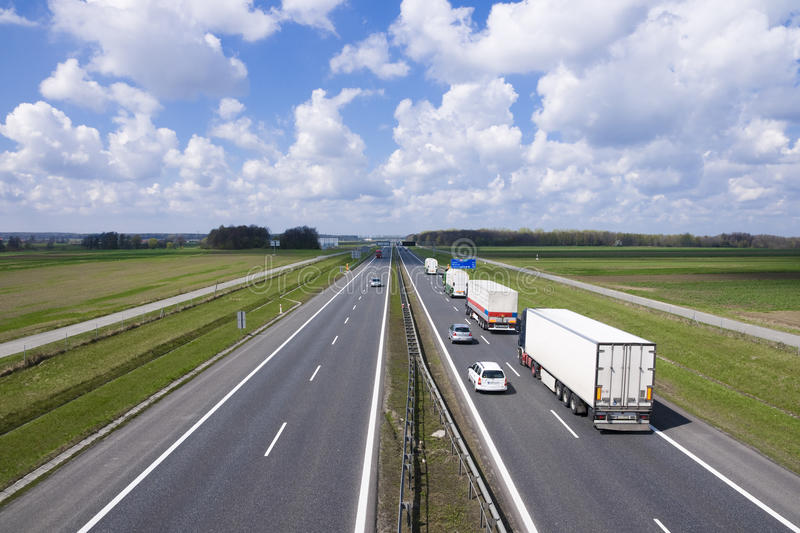 Higway a4 in Poland stock images