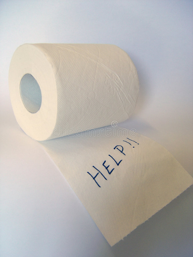 higyenic paper roll arkivfoto