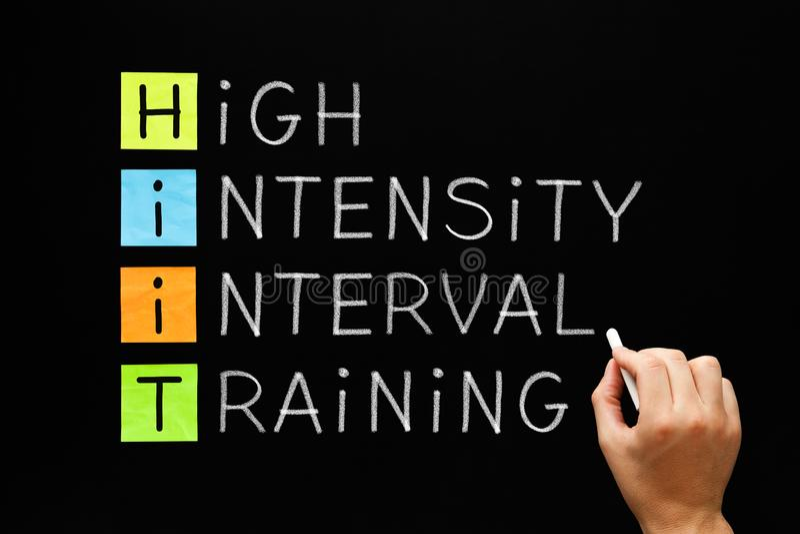 HIIT - High Intensity Interval Training stock photo