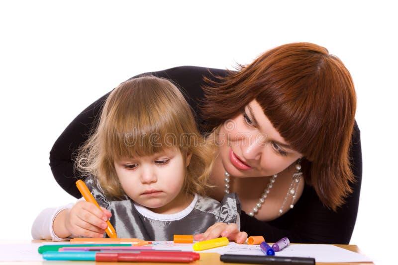 Hija de ayuda de la madre imágenes de archivo libres de regalías