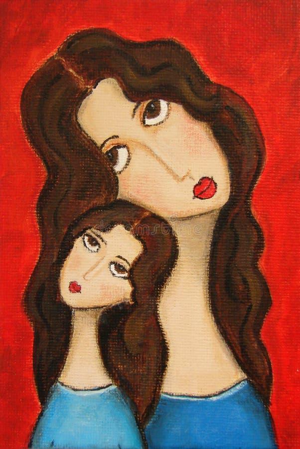 Hija de la madre stock de ilustración