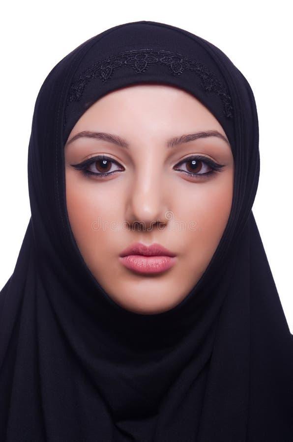 Hijab мусульманской молодой женщины нося стоковое изображение rf
